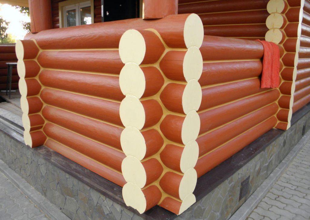 герметизация срубов теплый шов