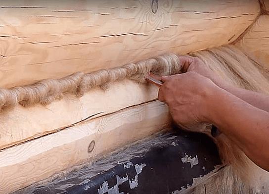 технология конопатки сруба