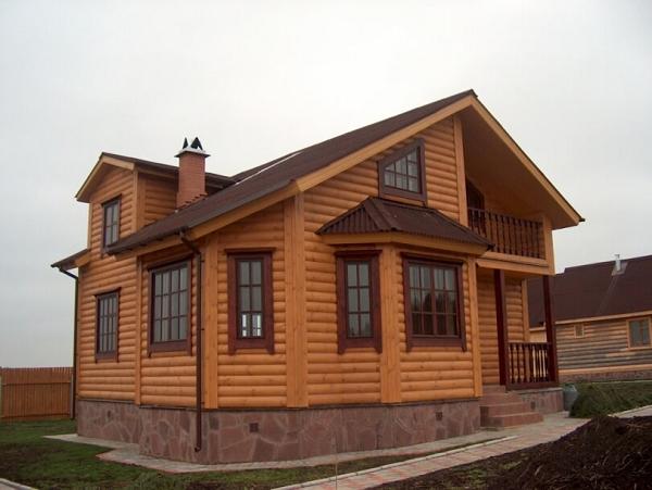 Обшивка дома блок-хаусом