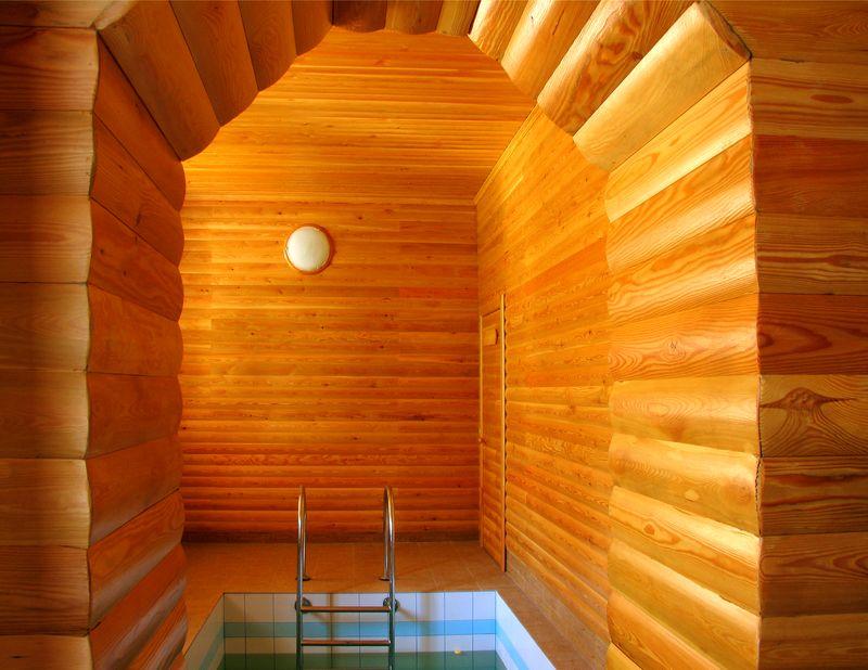 отделка бани блок-хаусом внутри