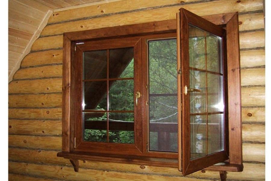 отделка пластиковых окон внутри в деревянном доме