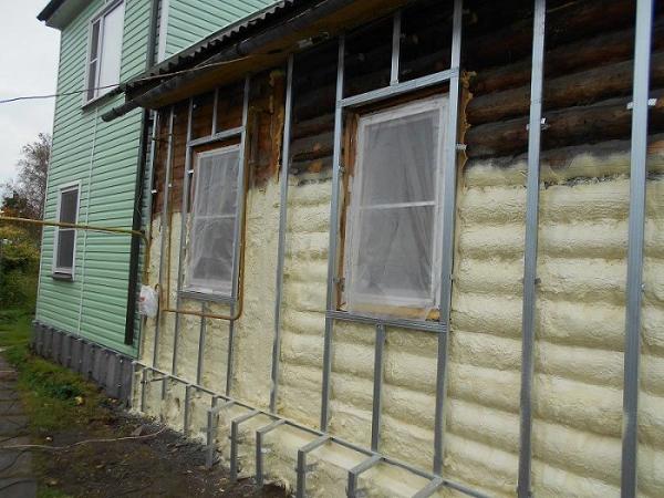 утеплить фасад деревянного дома