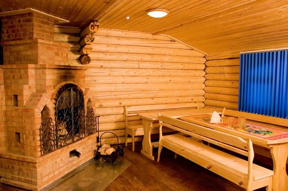 Внутренняя отделка деревянных бань