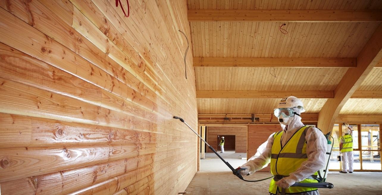 обработка деревянного дома фото
