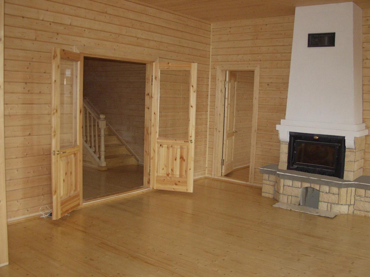 отделка деревянного коттеджа