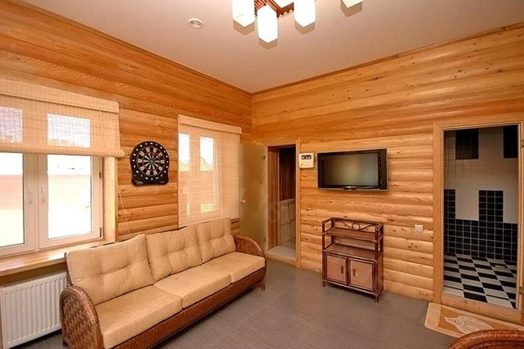 Внутренняя отделка деревянного загородного дома