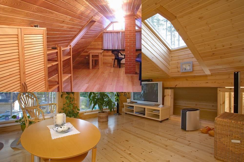 Отделка мансарды в деревянном доме