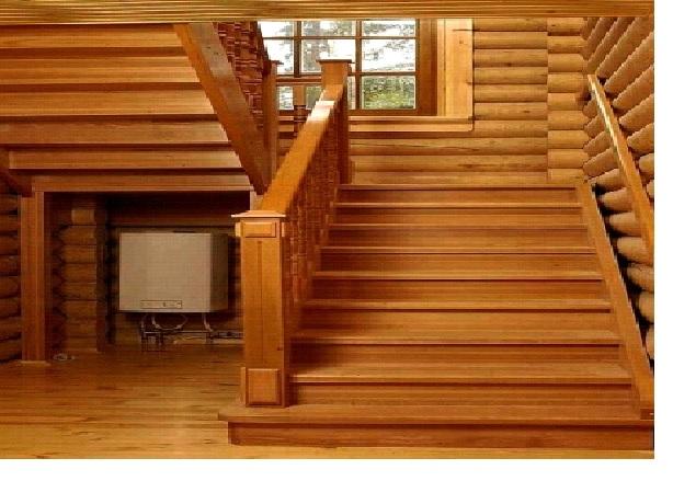 облицовка деревянной лестницы в доме