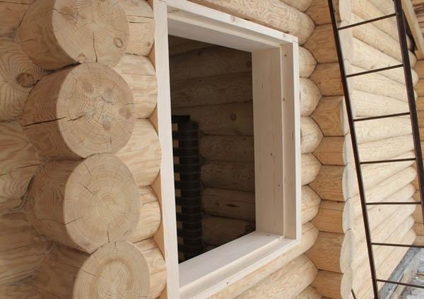 Окосячка проемов в деревянном доме