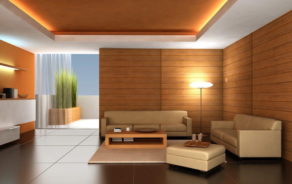 внутренняя отделка дома деревянными панелями