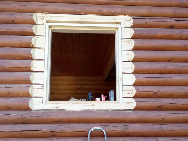 проем оконный в деревянном доме