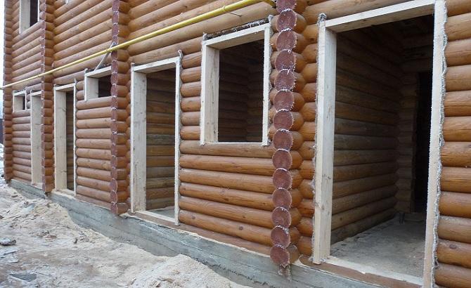 обсада в деревянном доме фото